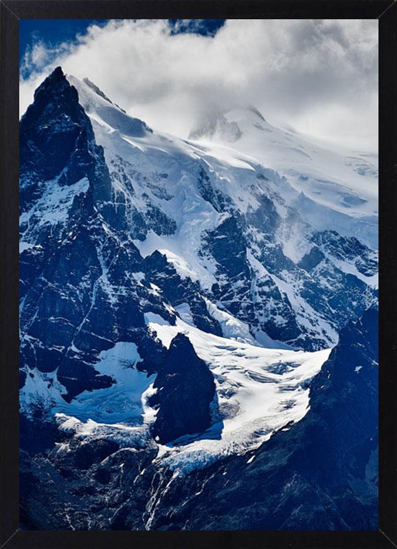Пример лучшего оригинального и необычного подарка - еврокартины. Фотокартина с подсветкой, без часов, без паспарту. Стильный постер - снежные горы