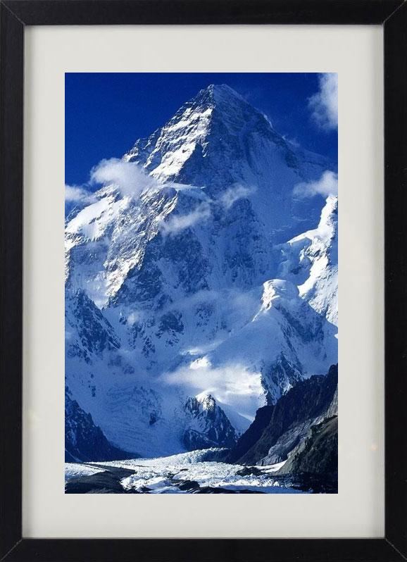 Пример лучшего оригинального и необычного подарка - еврокартины. Фотокартина с подсветкой, без часов, с паспарту. Стильный постер - снежная гора