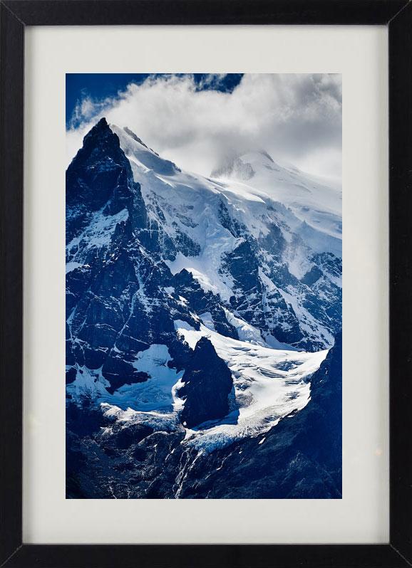 Пример лучшего оригинального и необычного подарка - еврокартины. Фотокартина с подсветкой, без часов, с паспарту. Стильный постер - снежные горы